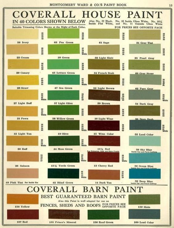 montgomery ward house paint colors 1915 historic paint