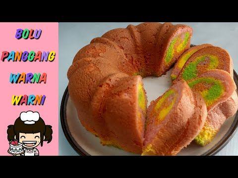 Bolu Panggang Warna Warni Youtube Food Bagel Cake