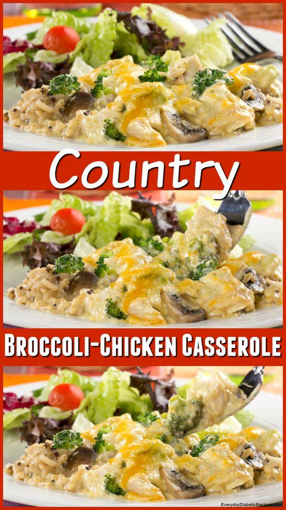 Country Broccoli-Chicken Casserole   Recipe   Casseroles, Healthy and ...