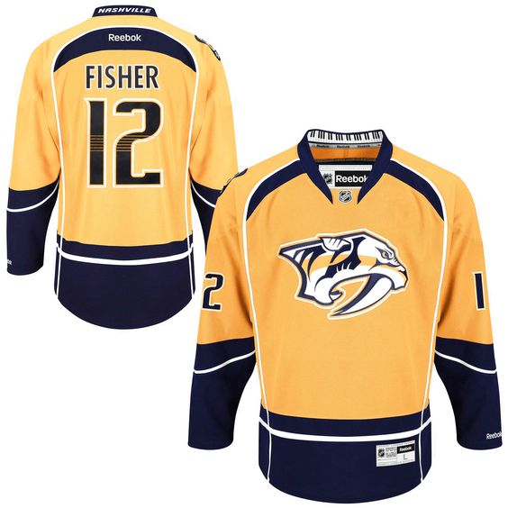 7a815d856 Mike Fisher Nashville Predators Reebok Men s Home Premier Jersey - Gold -   135.99