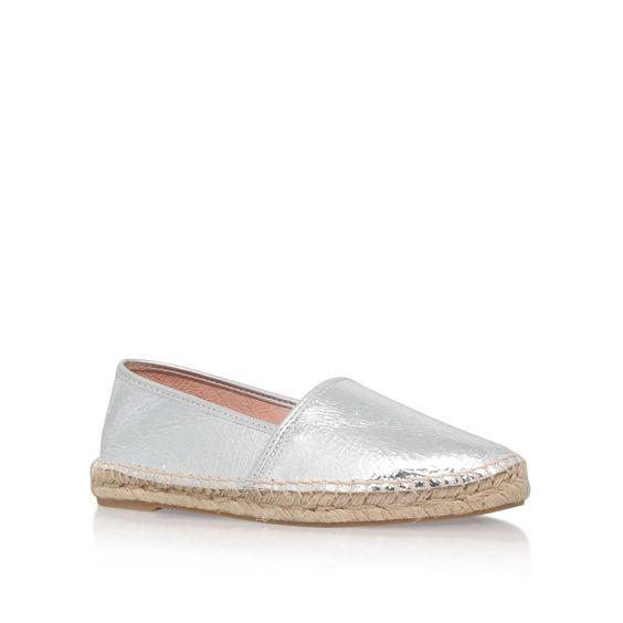 KG Monica flat espadrille sneakers, Silver