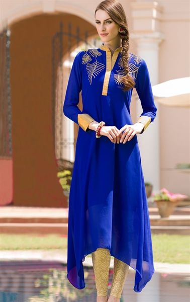 Image result for Blue kurti