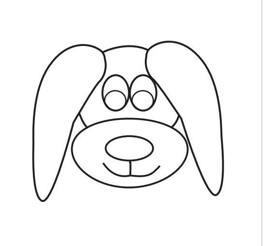 Ears dogs and patterns on pinterest for Template for dog ears