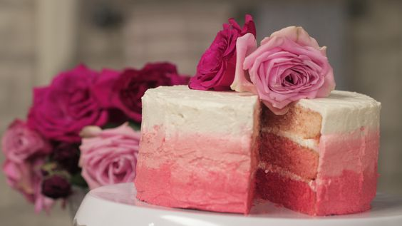 Pretty as a picture ombre cake. The perfect treat for a birthday!