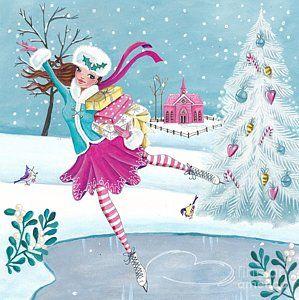 Skating Girl Print by Caroline Bonne-Muller
