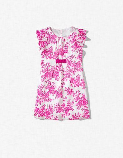 TWO TONE FLORAL DRESS - Dresses - Girl (2-14 years) - Kids - ZARA
