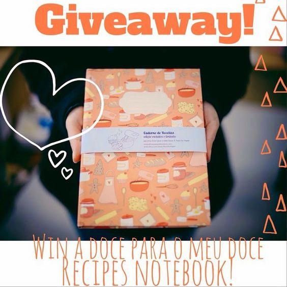 Doce para o meu Doce: Giveaway Caderno de Receitas Doce para o meu Doce e Nuts for Paper