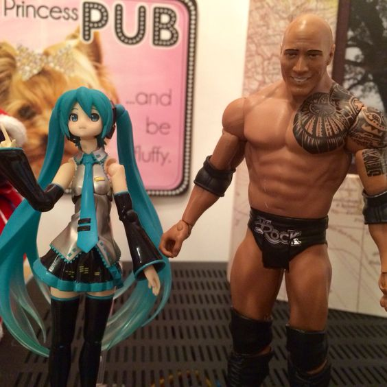 Hatsune Miku and The Rock