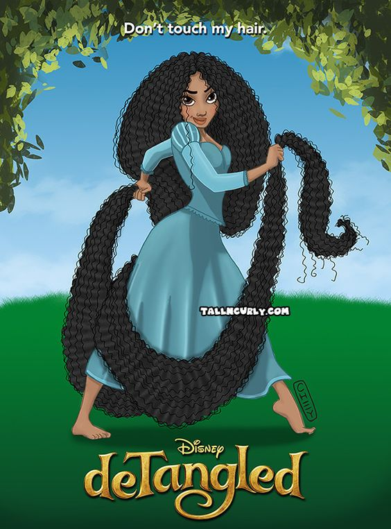 NATURAL HAIR 'DE'TANGLED-Great poster for kid's bedroom