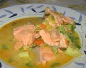 Delicious Salmon Soup Recipe