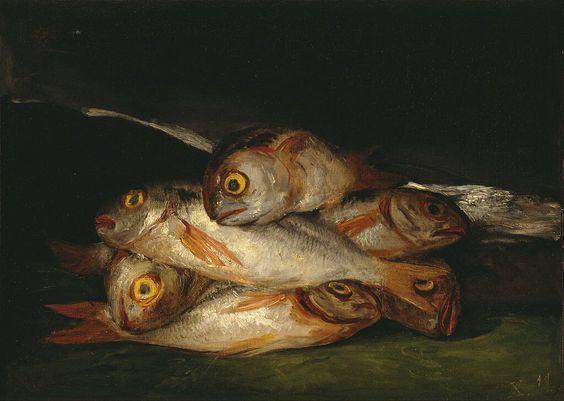 Still Life with Golden Bream- Goya