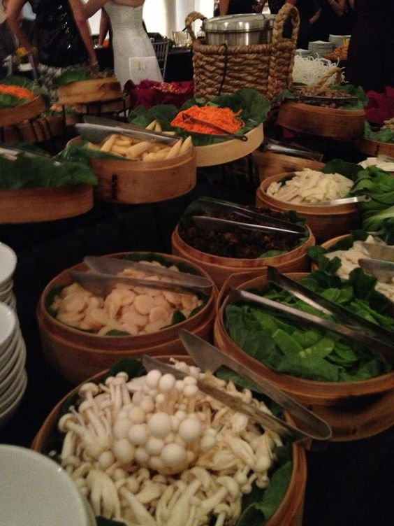 Interactive Hot Pot Station - Caterer Simply Scrumptious, Event Planner Gretchen Speidel
