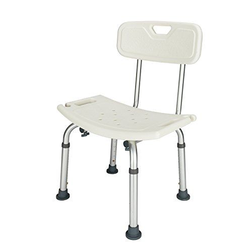 Mefeir Upgraded 450lbs Shower Chair Bath Seat Stool Transfer Bench