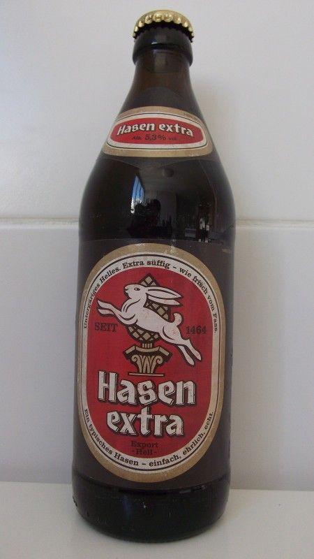Cerveja Hasen Extra, estilo Munich Helles, produzida por Hasen-Bräu, Alemanha…