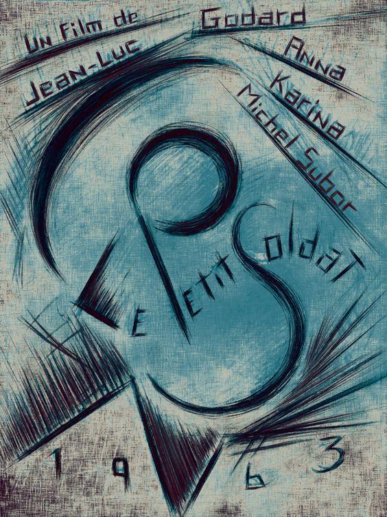 Le Petit Soldat / The Little Soldier 1963 Godard  #AlternativeFilmPoster by Juan Villanueva