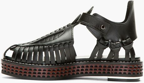 proenza-schouler-black-black-leather-woven-sandals-flat-sandals