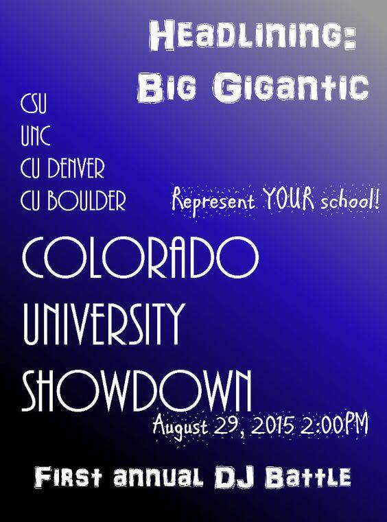 CoUShowdown Poster/Flyer
