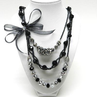 Formal Necklace 3-Row with Mini Bowdabra Bow | Bowdabra Blog