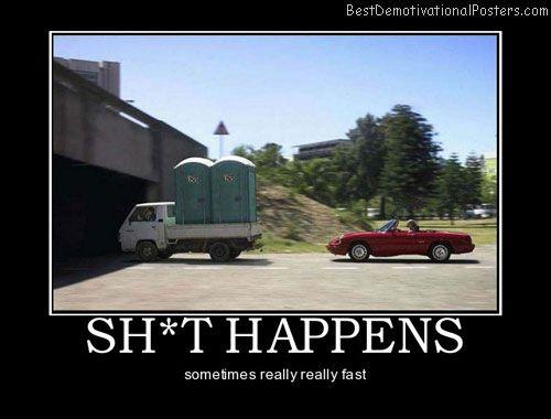 Funny Truck Driver Sayings Happens Car Toilet Driving Truck