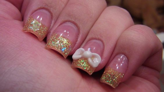 ★☆Acrylic nail tutorial - 3D bow☆★