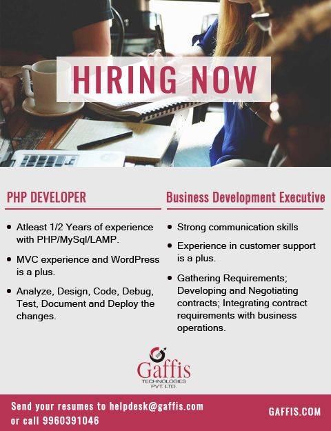 Php Developer Atleast 1 2 Years Of Experience With Php Mysql Lamp Mvc Experience And Wordpress Is A Plu Communication Skills Business Development Negotiation