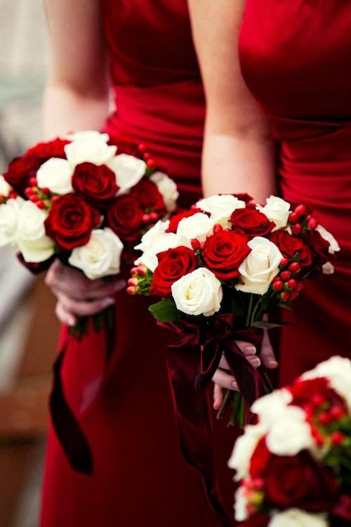 The Sassy Sophisticated Red Wedding Guide: Wedding Bouquet | Read more: http://simpleweddingstuff.blogspot.com/2015/03/the-sassy-sophisticated-red-wedding.html