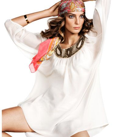chiffon tunic: Hair Fashion, Bathing Suits, Fades Style, Fashion Beauty, Beauty Style, Fashion Inspiration, Chic Fashion