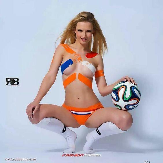 Soccer Babe Body Paint