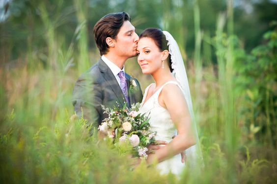 hidden in the grass / forehead kiss