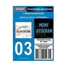 Stickers Plaque Moto Allier