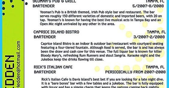 contoh surat lamaran kerja umum, contoh surat lamaran kerja di - resume for bartender