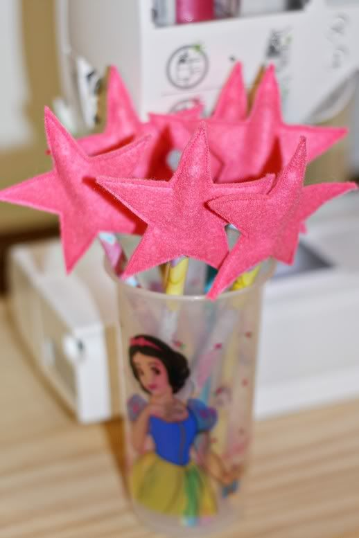 Pencil Wands (Star Pencil Toppers) - sea stars for a mermaid party