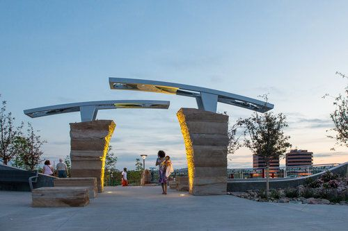 Center Park Gateway Parking Design Entrance Gates Design Front Gate Design