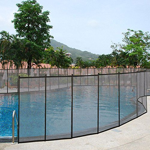 Giantex 4 X12 In Ground Swimming Pool Safety Fence Section Pool Fence Pool Pool Safety
