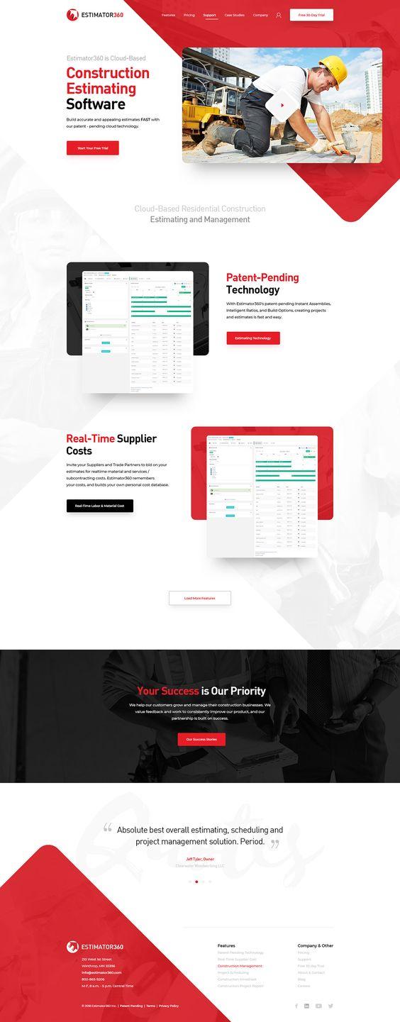 2018 Web Design on Behance