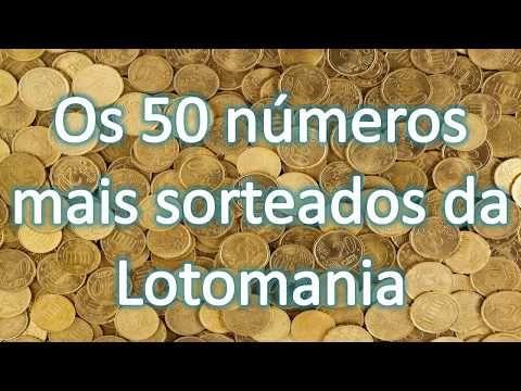 Os 50 Numeros Mais Sorteados Da Lotomania Youtube Com Imagens