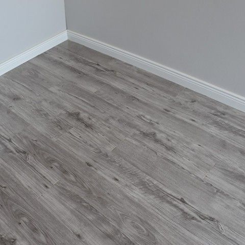 Varnished Grey Gloss Wooden Floor With Images Grey Laminate Flooring Wooden Floors Living Room Grey Laminate Flooring Living Room