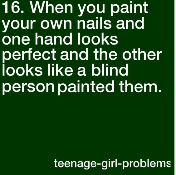 Yeah, although I think a blind person could paint their nails better than I paint my right hand sometimes!