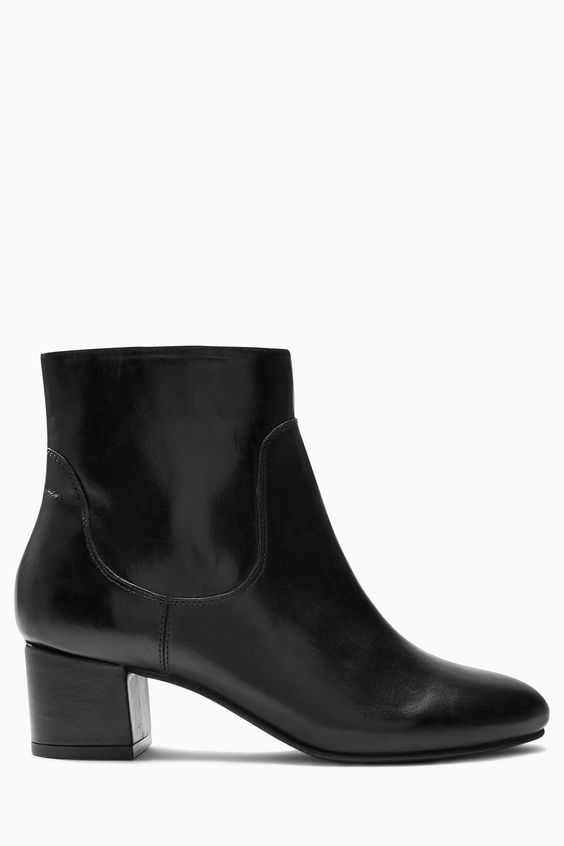 Buy Black 60'S Block Heel Ankle Boots from the Next UK online shop ...