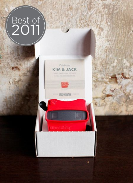 Viewmaster wedding invitatation; Photo by Jen Huang Photography
