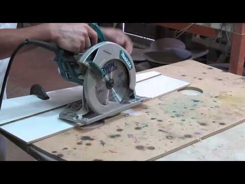 Esquadro para serra circular manual - square to circular saw - YouTube
