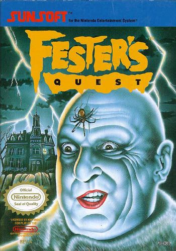 Fester's Quest for NES. My brother and I used to rent this and Castlevania *all the time* from Video Depot when we were kids. Memories....