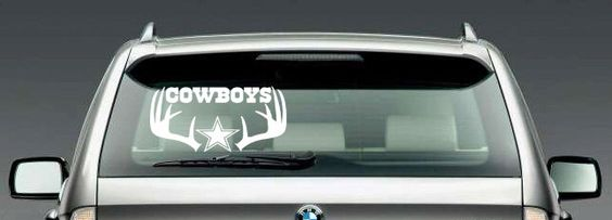 A personal favorite from my Etsy shop https://www.etsy.com/listing/242376331/dallas-cowboys-inspired-car-vinyl-decal