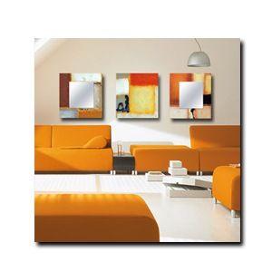 Triptico dos espejos + cuadro decoración naranja Ideas originales para decorar tu hogar que puedes comprar online. El complemento que te faltaba para conseguir tu toque especial.