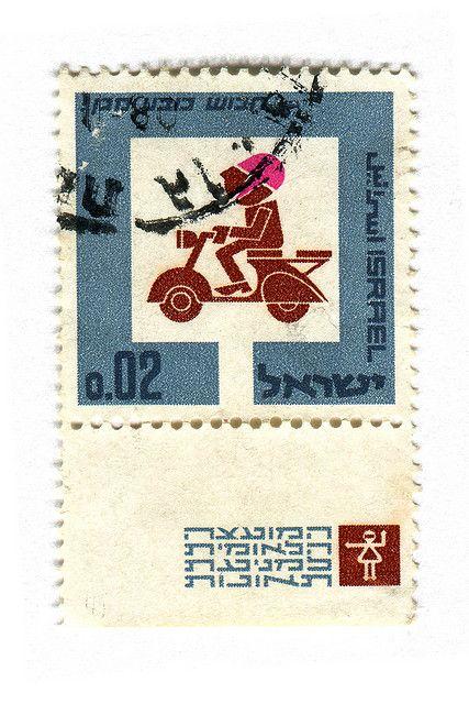 Israel Postage Stamp: Bike by karen horton, via Flickr