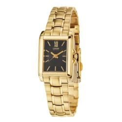 @Overstock - The Citizen wristwatch from the Eco-Drive collection stores energy gathered by exposure to any light source. A yellow goldplated stainless steel case and bracelet complete the look of this women's dress watch.http://www.overstock.com/Jewelry-Watches/Citizen-Womens-Eco-Drive-Yellow-Goldplated-Stainless-Steel-Quartz-Watch/5982524/product.html?CID=214117 $128.99