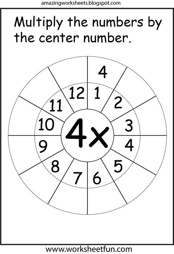Number Names Worksheets : free printable times table worksheets ...