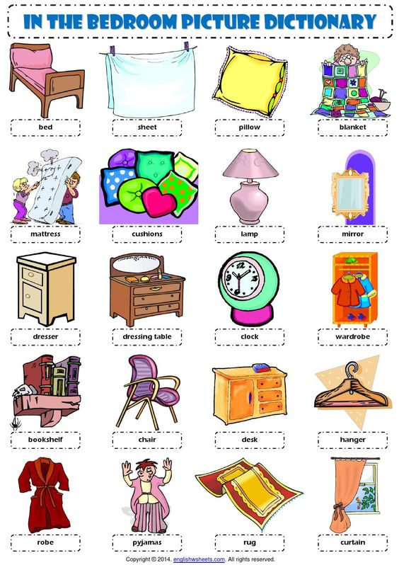 Esl vocabulario ingl s and dormitorios on pinterest for Living room 4 pics 1 word