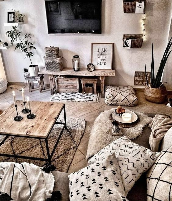 Pin By Skyler Judkins On Salones Living Room Decor Modern Rustic Living Room Apartment Living Room Design