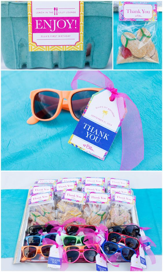 Adorable Lilly Pulitzer Party favors